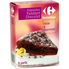 Preparation pour fondant chocolat, facile & gourmand
