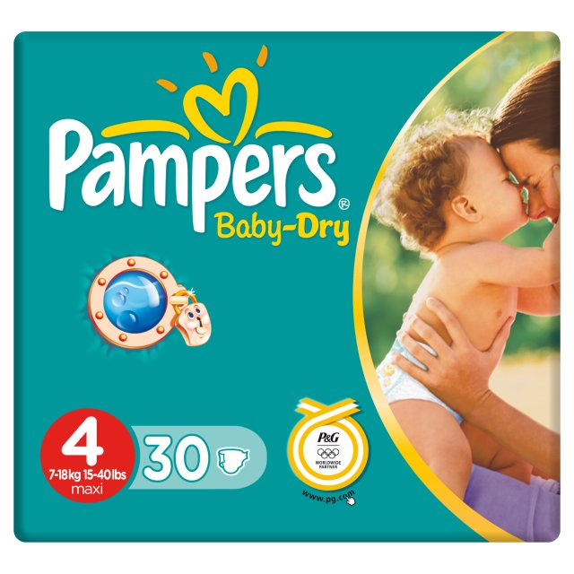 Couches PAMPERS BABY DRY PAQUET Taile 4 X30 7-18 kg