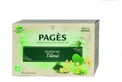 Infusions bio tilleul PAGES, 20 sachets, 30g