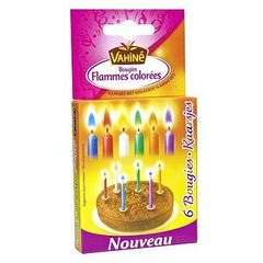 Bougies flammes colorees
