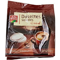Belle France Set de 18 Dosettes de Souples de Café Pur Arabica Corsé 125 g - Lot de 5