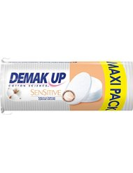 Demak'up Sensitive Set de 64 Cotons à Démaquiller Ovale Maxi - Lot de 4