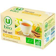The vert agrumes cannelle U BIO, 20 sachets, 36g