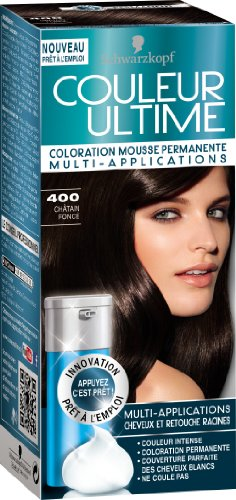 Coloration permanente COULEUR ULTIME, n°400 chatain fonce