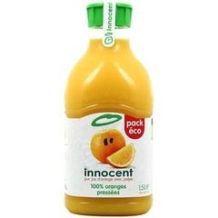 Jus d'orange avec pulpe, 100% jus