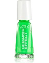 Layla Cosmetics Milano Céramique Effet Vernis à Ongles Gree Fluo 10 ml