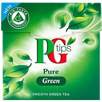 PG Tips Pure Green lisses Sacs Pyramid de thé (20) - Paquet de 6