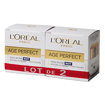 Soin jour L'Oreal Age Perfect Peaux matures 2x50ml