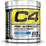 Cellucor C4 NEUF FORMULE Glacé Bleu Razz 60 portions G4 chromé avec TeaCor