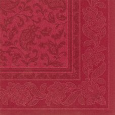 20 Serviettes en papier Royal Collection Ornaments PAPSTAR, bordeaux