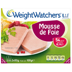 Mousse de foie XEIGHT WATCHERS, 2x50g