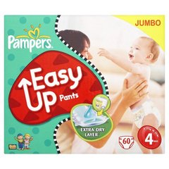 Couches Pampers Easy Up T4 8-15kg Jumbo pack x60