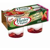 Panier Yoplait nature sur fruits fraise 2x140g