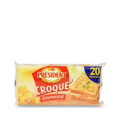 Fromage fondu Croque'Emmental PRESIDENT, 18%MG, 340g