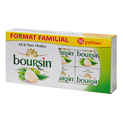 Boursin ail et fines herbes 16 portions 256g