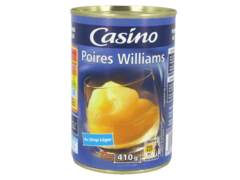 Poires Williams au sirop leger