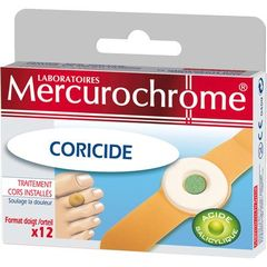 Pansements coricides MERCUROCHROME, 12 unites