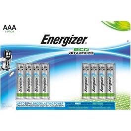 Piles ENERGIZER, eco advanced, LR03, 8 unités