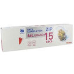 auchan sac congelation a zip 15x6 8l tous les produits emballages alimentaires prixing. Black Bedroom Furniture Sets. Home Design Ideas