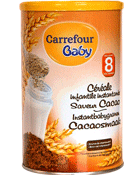 Cereale infantile instantanee saveur cacao, 8M