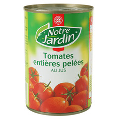 Tomates Notre Jardin entieres Pelees 238g