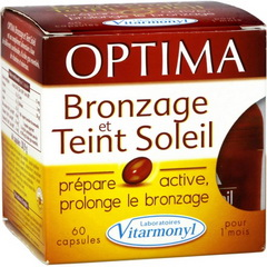 Complement alimentaire, bronzage & teint soleil - Optima
