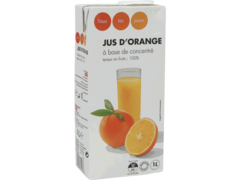 Jus d?Orange a Base de Concentre Brick
