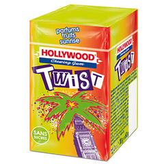 Chewing gum sans sucre fruits sunrise Twist HOLLYWOOD, dragees, 3x20g