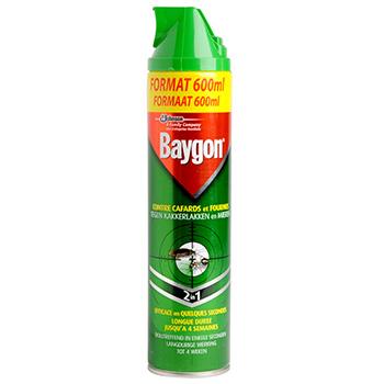 Anti rampants baygon desinfectant aerosol 600ml tous les for Produit pour cafard