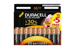 Piles Duracell - AA/LR6 Power plus - x20
