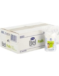 Bel Premium 918555 Small Round Cotton Wool Pads with Aloe Vera/ Provitamin B5 with Flower Imprint Box of 15 Packs...