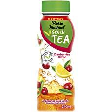 Boisson au the vert Green Tea cranberries citron PIERRE MARTINET, 240ml