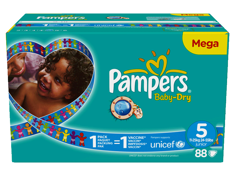 Pampers baby dry taille 5 11-25kg x88