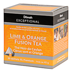 The noir de Ceylan Dilmah Citron vert et orange 40g