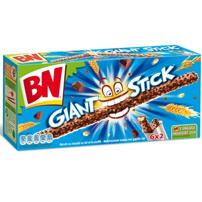 Biscuits Giant Sticks au chocolat au lait BN, 180g