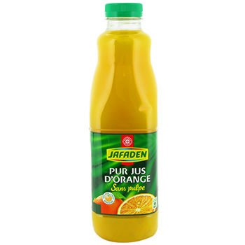 Jus d'orange Jafaden Sans pulpe pur 1l