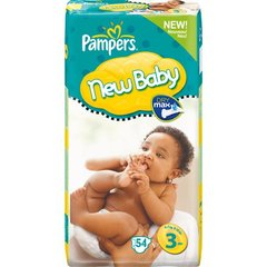 Pampers new baby 4/7kg x54 taille 3