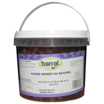 Barral seau d'olives noires natures 2,5kg