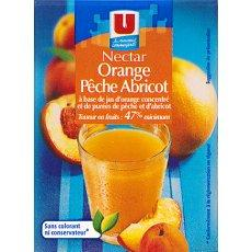 Nectar d'orange, peche et abricot U, 20cl