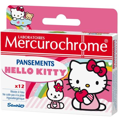 Pansements Hello Kitty, resiste a l'eau