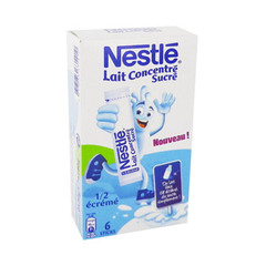 Lait concentre sucre demi ecreme NESTLE, 6 sticks, 180g