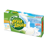 P'TIT LOUIS au lait pasteurisé, 23%MG, 12 portions, 240g