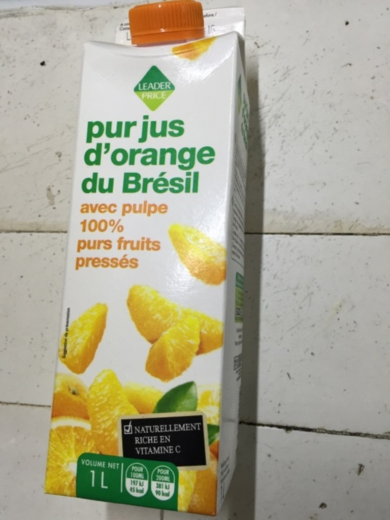 Pur jus d'orange Brésil 1l