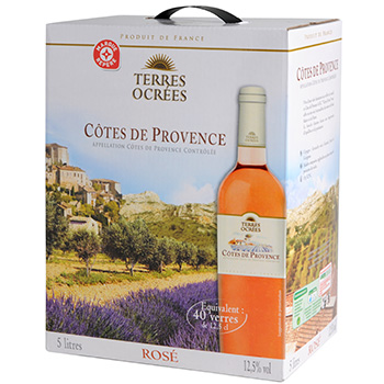 Vin rose Terres Ocrees Provence Bag in box 5l