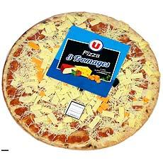 Pizza pate fine aux 4 fromages U, 450g