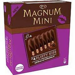 Magnum mini flirty kiss gateau chocolat x6 -300ml