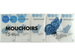 Mouchoirs blancs etuis