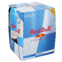 Red Bull sugar free 4x25cl