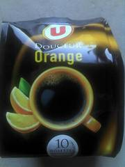Cafe Douceur Orange U, 10 dosettes souples, 70g