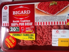 Hache tradition 20% matiere grase Bigard 700g